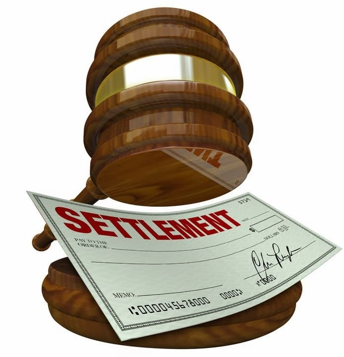 settelement from personal injury court case