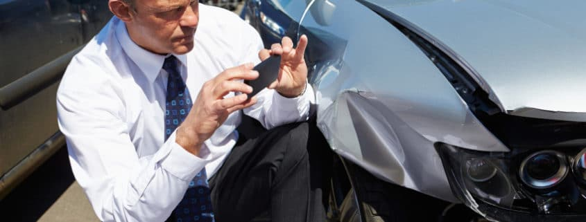 Documenting the scene to prove you are not at fault in an accident