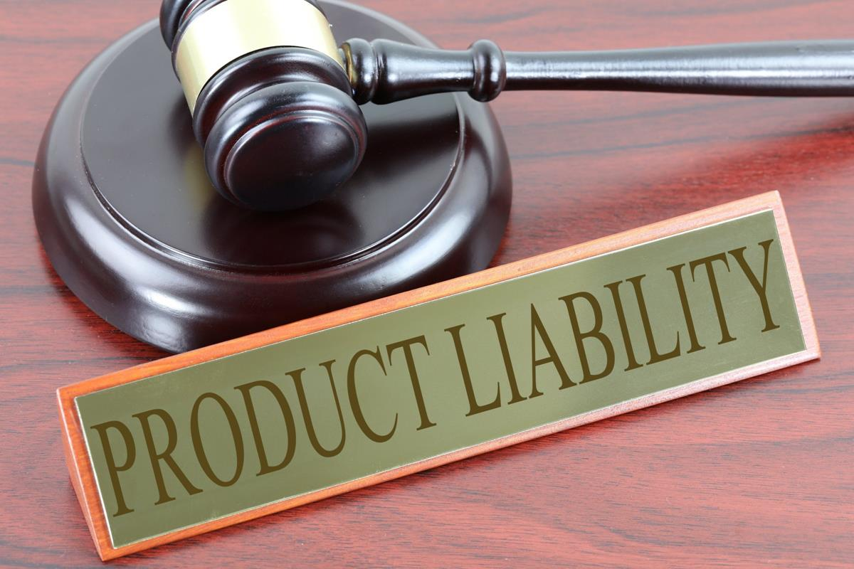 gavel with plate reading product liability