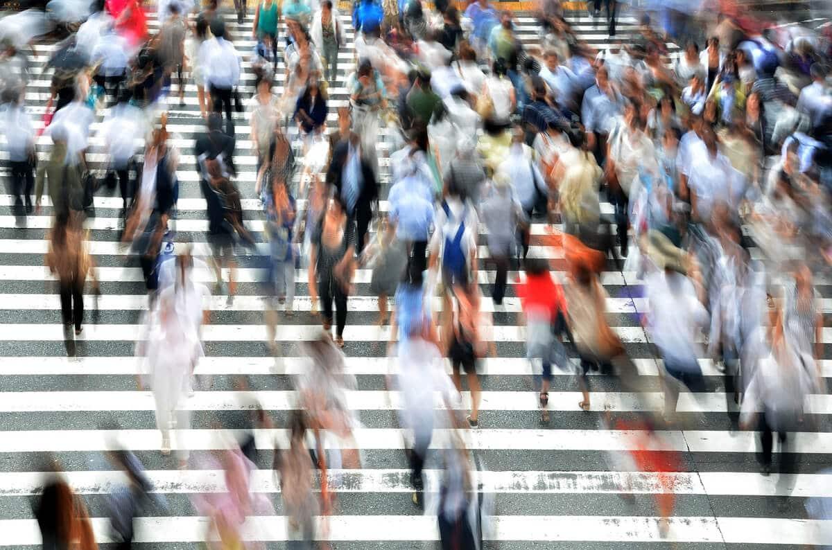Pedestrians on Crosswalk