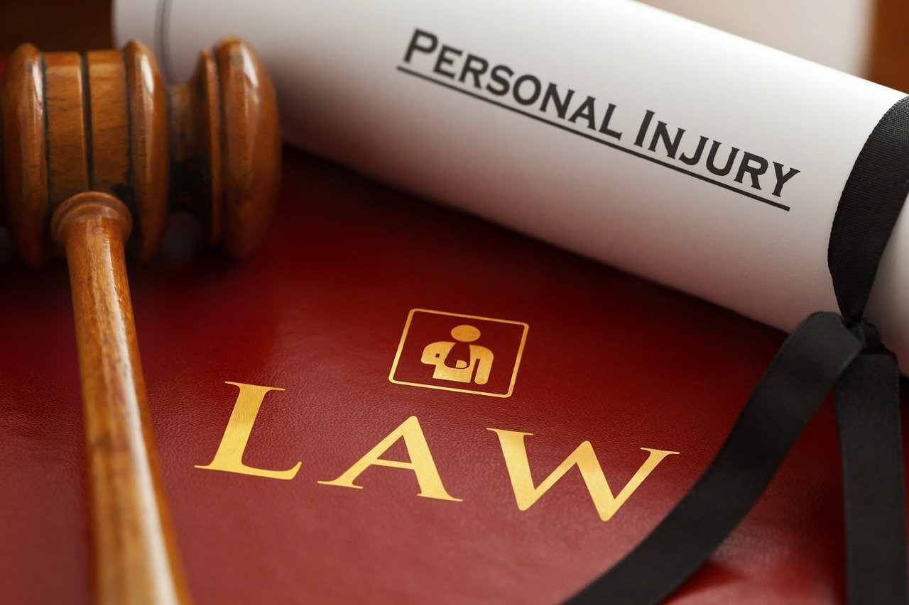 gavel with book on personal injury law