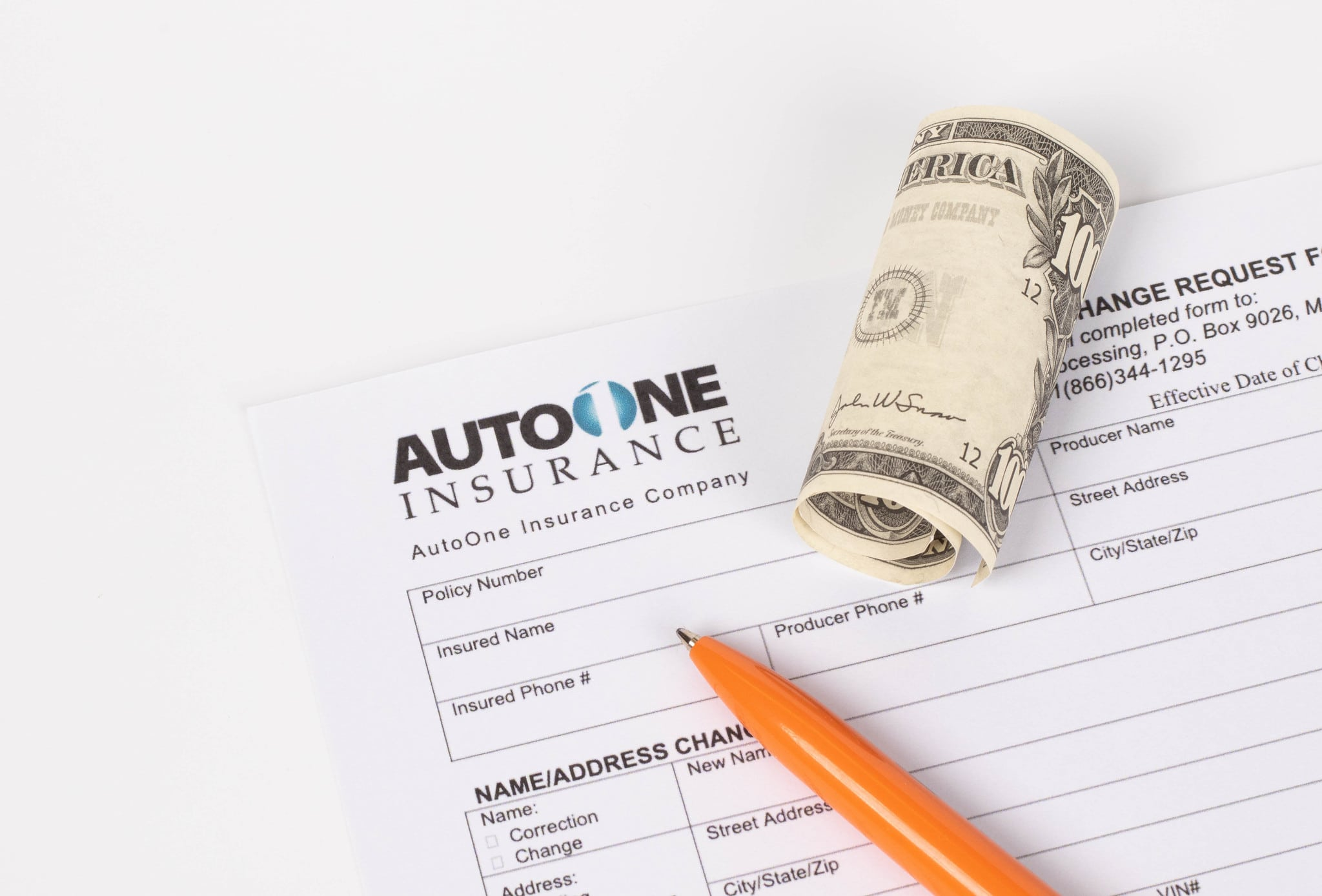 auto insurance policy and cash deductible