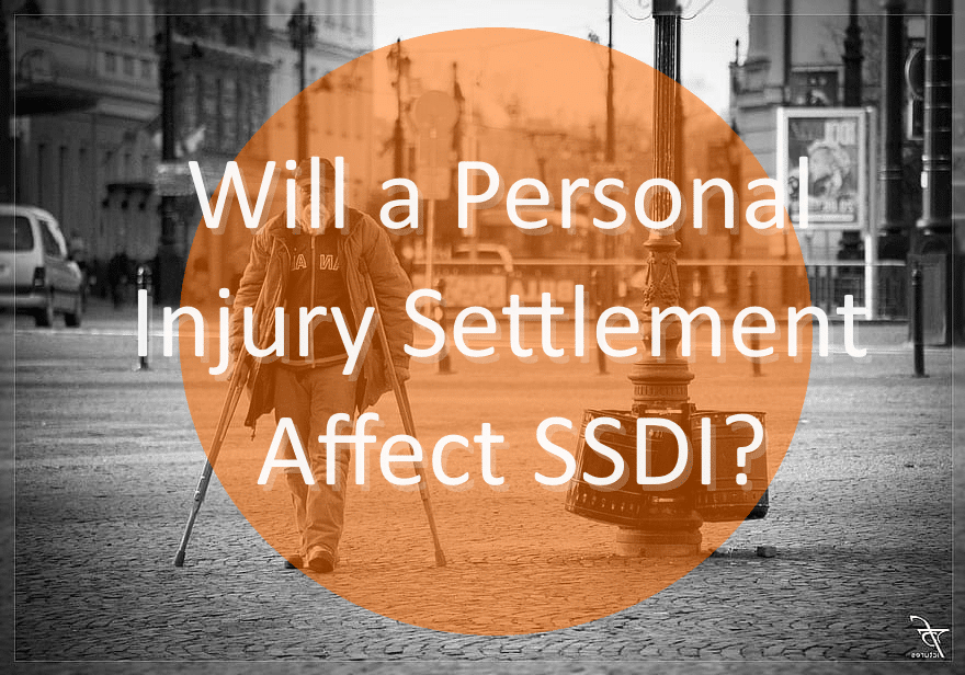 older man on crutches injured in accident but also collecting ssdi